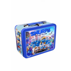 Set 4 Filme Ștrumfii / Smurfs, the lost village - DVD + LunchBox Metal