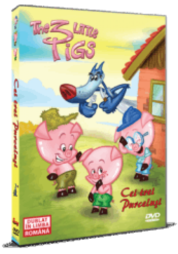 Cei trei purceluşi / The 3 Little Pigs - DVD