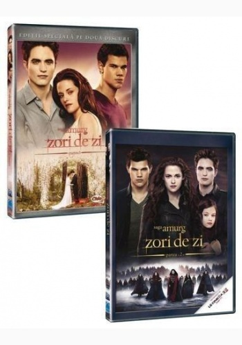 SAGA AMURG 4: ZORI DE ZI 1+2 / TWILIGHT SAGA, THE: BREAKING DAWN BOX - DVD pachet