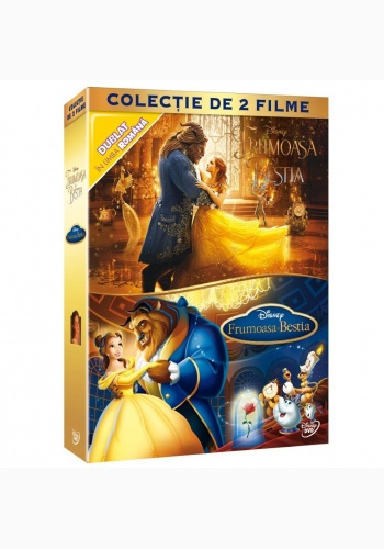 FRUMOASĂ ŞI BESTIA - PACHET: FILM ŞI ANIMAŢIE / BEAUTY AND THE BEAST - BOX: MOVIE & ANIMATION - DVD