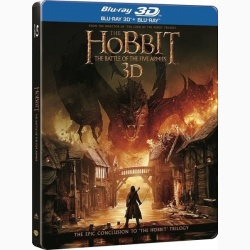 HOBBITUL 3: BĂTĂLIA CELOR CINCI OŞTIRI  3D Steelbook / HOBBIT 3, THE: THE BATTLE OF THE FIVE ARMIES 3D Steelbook - 3D Steelbook