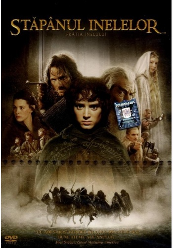 STĂPÂNUL INELELOR 1: FRĂŢIA INELULUI / LORD OF THE RINGS: THE FELLOWSHIP OF THE RING - DVD
