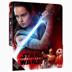 STAR WARS: ULTIMUL JEDI Steelbook / STAR WARS: THE LAST JEDI Steelbook - BD